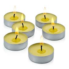 Light Mosquito Repellent Citronella Yellow Tealight Candles