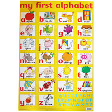 My First Alphabet Wall Chart Educational Toys And Educational Games At The Works