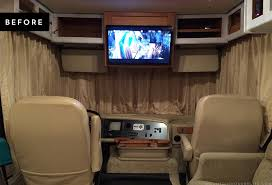 looking to replace those bulky curtains in the front of your rv see how easy