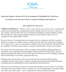 Partnership Agreement Between Companies In The News Clearwater Business Advisors Llc Accounting