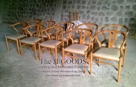 we produce replica of hans wegner wishbone chair mid century furniture by jepara goods woodworking studio