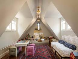 Small Attic Bedrooms Moroccan Style Rug Ideas And Unique Hanging Bed For Attic Bedroom