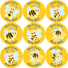 144 Busy Bee 30 Mm Reward Stickers For School Teachers Parents And Nursery