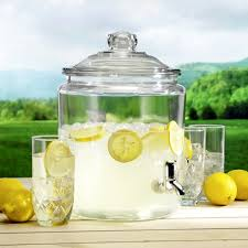 5 gallon beverage dispenser with spigot hocking 2 gal heritage hill glass jar w plastic spigot