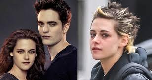 Galeriehvězda Stmívání Kristen Stewart Punkový účes A Ztrhaná Tvář