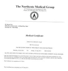 Medical Certificate Template Mesmerizing Doctor Certificate For Sick Leave Template Lccorpco