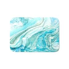 blue cotton bath rugs navy