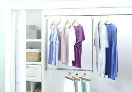 small closet rod bracket double hang closet rod in closet rods and brackets inside double hanging