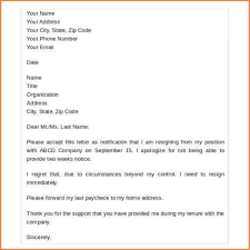 Resignation Letter Samples Uk resume reference page example