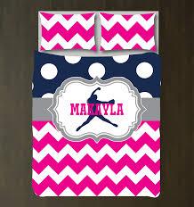 Softball Bedroom Custom Softball Chevron Polka Dot Bedding For Girls Shop