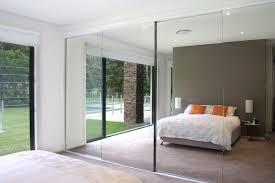 sliding frameless mirror closet door