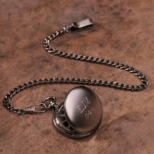 unique groomsmen gifts they ll actually use the man registry personalized gunmetal pocket watch