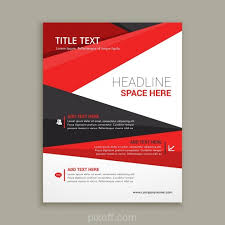 flyer design free vector ai business brochure flyer design with red shapes vector free