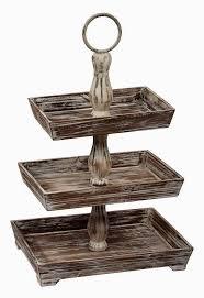 link round wooden 3 tier stand