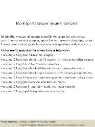 Attorney Resume Samples Impressive Top 60 Sports Lawyer Resume Samples