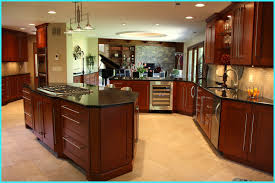 angled kitchen island ideas. Ideas Tremendous Angled Kitchen Island Plans Using Gas Cooktop With Downdraft That Mounted On Black Granite Countertops And Solid Cherry Cabinets A