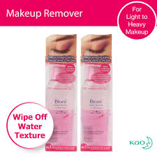 biore eye and lip makeup remover 130ml twin pack