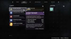 Rust Raid Chart Destiny 2 Scour The Rust Quest Steps For Season 8 Iron