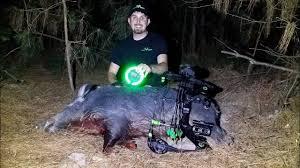 Motion Activated Feeder Light Hog Hunt At Night With The Green Kill Light Motion Sensor Feeder Light