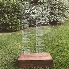 Wedding Seating Chart Acrylic Decor Acrylic Seating Chart 2915000 Weddbook