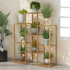 kingdely bamboo 6 tier shelf flower pot