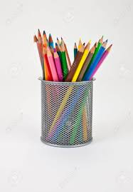 office pen holder. Some Colour Pencels In A Office Pen Holder. Stock Photo - 6775460 Holder