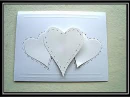 Chart Paper Greeting Card Card Making 3 Hearts Valentines Day Card Paper Crafts
