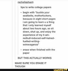 tumblrpost textpost tumblr a college school tips to write college papers xd