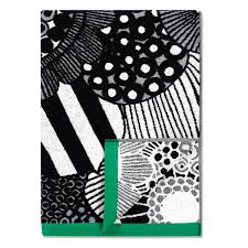 black and white bath towels. Marimekko Siirtolapuutarha Black / Green Bath Towel And White Towels I