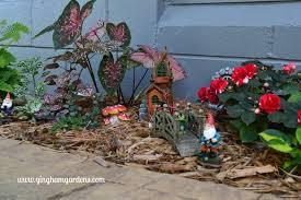 miniature gnome garden gingham gardens