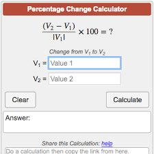percene change calculator
