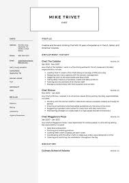 Chef Resume Sample Chef Resume Samples Resumeviking 40