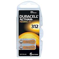 Hearing Aid Battery Sizes Chart Duracell Hearing Aid Batteries Size 312 Pack 60 Batteries