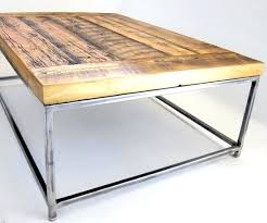 decoration incredible metal frame coffee table home design ideas window plans