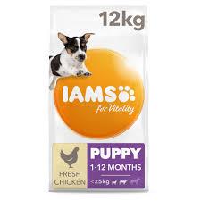 Iams For Vitality Small Medium Breed Puppy Food 12kg