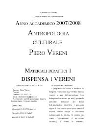 Dispensa 1 Vereni Antropologia Culturale