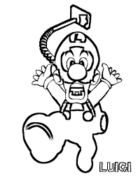 Luigis Mansion Coloring Pages Luigi Mansion Colourin For The