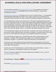 Nda Form Template Non Disclosure Agreement Template Word Philippines