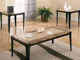 brown marble top coffee table set unclaimed freight co smart round