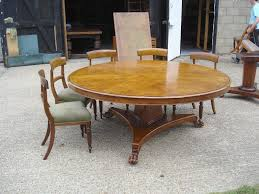 Awesome Large Round Dining Table Round Dining Room Tables Seats 10 Intended  For Large Round Dining Table Seats 12 Ordinary ...