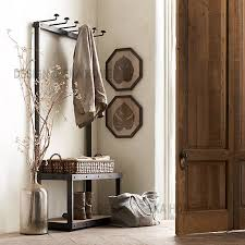 Country Style Coat Rack American country style wrought iron furniture wood floor coat rack 83