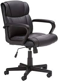 AmazonBasics Leather-Padded, Adjustable, <b>Swivel Office</b> Desk ...