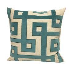 teal accent pillows. Interesting Pillows Applique Linen Poly Green And Teal Throw Pillowby Home Accent Pillows Inside