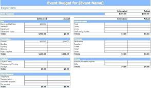 Best Of It Bud Template Fundraiser Event Work Simple Budget Excel