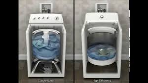 How Do High Efficiency Washers Work How An He Top Load Washer Works Youtube