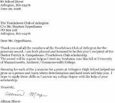 Scholarship Thank you Letter with Sample