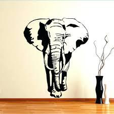 metal elephant head wall art
