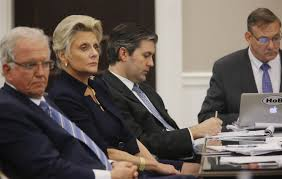 lone juror says he can t convict ex cop in walter scott killing former north charleston police officer michael slager center sits in the courtroom during his murder trial at the charleston county court in charleston
