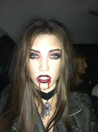 @Brooke Leggett I Like The Blood Dripping Down The Sides, But Only One  Instead Of Two. What Do You Think? Vampire Makeup