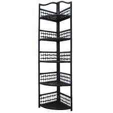 Wicker Corner Shelves Black Metal Corner Shelf Unit SHELVES 62